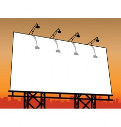 outdoor billboard vector image