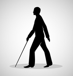 Blind man vector image