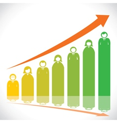 Business people market graph vector