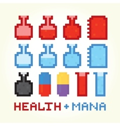 Health and mana icons vector
