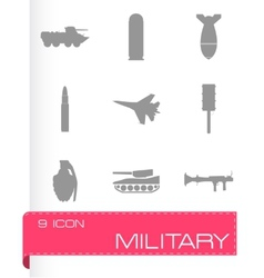 Military icons set vector