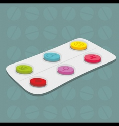 Tablets background vector