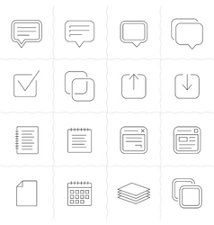 Notes memos and plans icons vector image