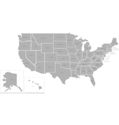 Simlified map of USA vector image