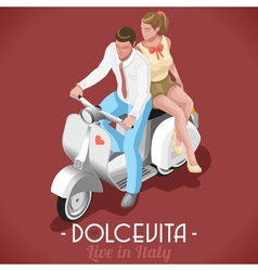 The Sweet Life of Marcello and Audrey vector image