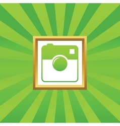 Square camera picture icon vector