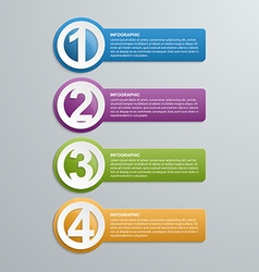 Abstract creative numbered infographic vector
