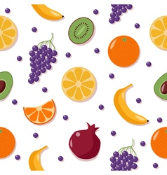 Fruits background seamless pattern with fruits vector