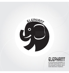 Abstract silhouette elephant vector