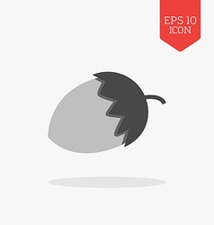 Acorn icon flat design gray color symbol modern ui vector