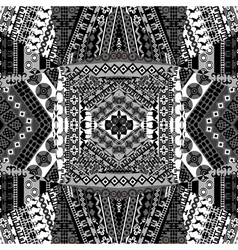 Background with mosaic of African black and white vector image vector image