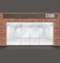 brick store front with big window vector image vector image