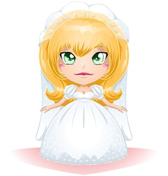 Bride Dressed For Her Wedding Day 3 vector image vector image