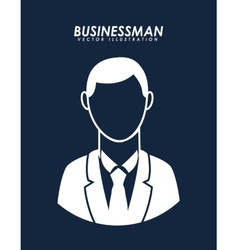 Businesman avatar vector