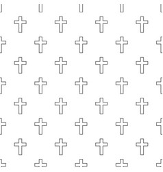catholic cross pattern seamless vector image