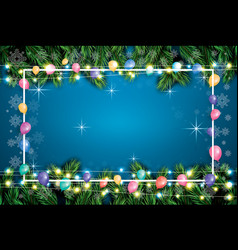 christmas greeting card with balloons white frame vector image vector image