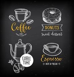 Coffee restaurant cafe menu template design vector
