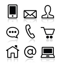 Contact web icons set vector image vector image