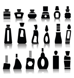 Cosmetic bottles vector