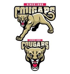 Cougar mascot vector