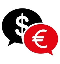 Currency transfer icon vector