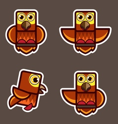 cute little owl abstract cartoon vector image vector image