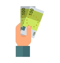 Donate money hand vector