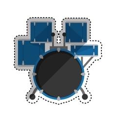Drummer music instrument vector image vector image