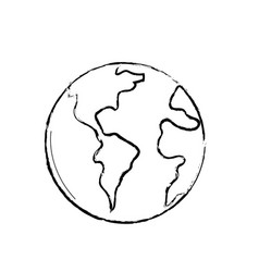Figure global earth planet to geography ubication vector