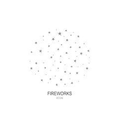 Fireworks logo icon celebration concept vector