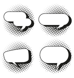 four design of speech bubbles vector image