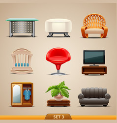 furniture icons-set 3 vector image vector image