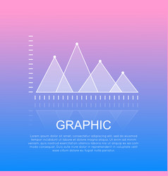 Graphic diagram with triangular marks report vector