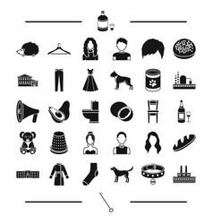 industry architecture animal and other web icon vector image