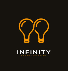 infinite energy logo vector image vector image