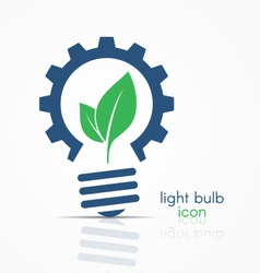 Light bulb idea icon sign symbol emblem vector image vector image