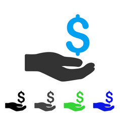 Money donation flat icon vector