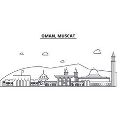 Oman muscat architecture line skyline vector