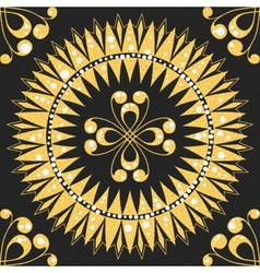 Seamless floral gold pattern vector