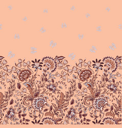 Seamless vertical pattern with decorative vector