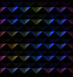 spectrum triangle pattern vector image vector image