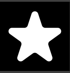 star white color icon vector image vector image