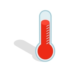 Thermometer icon isometric 3d style vector