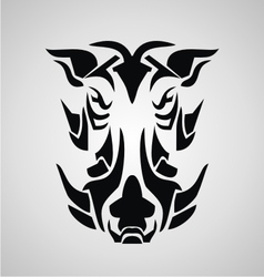 Tribal Boar vector image
