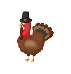 turkey of Thanksgiving design vector image