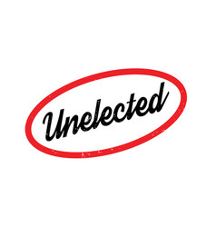 Unelected rubber stamp vector
