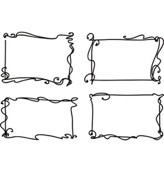 vintage decorative frames vector image vector image