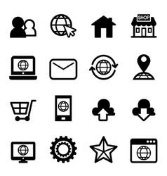 website internet icon vector image
