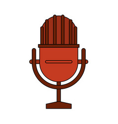 white background with studio microphone vector image