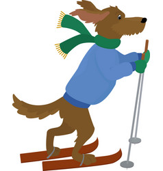 yellow dog symbol 2018cartoon dog vector image